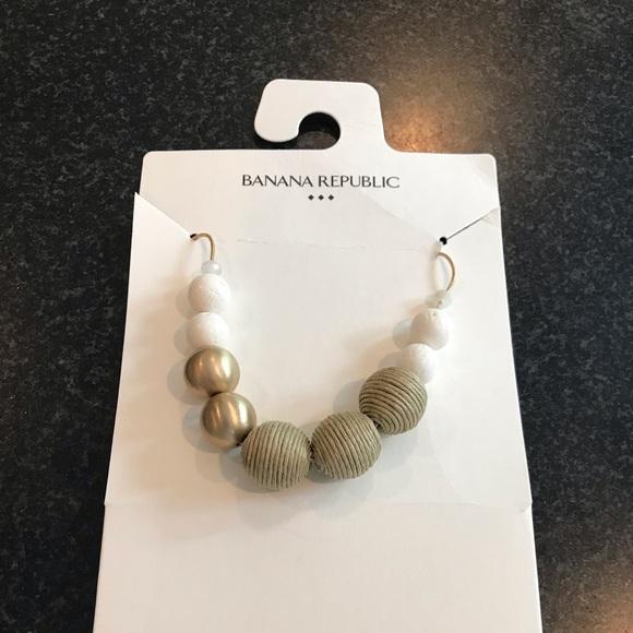 Banana Republic Jewelry - Banana Republic beaded necklace, NWT